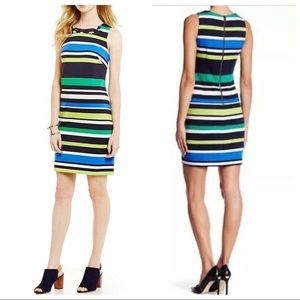 NWT! Vince Camuto  Embellished Print Dress